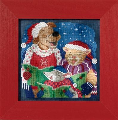 """Набор для вышивания """"Caroling Trio • Колядное трио"""" Mill Hill MH141731"""