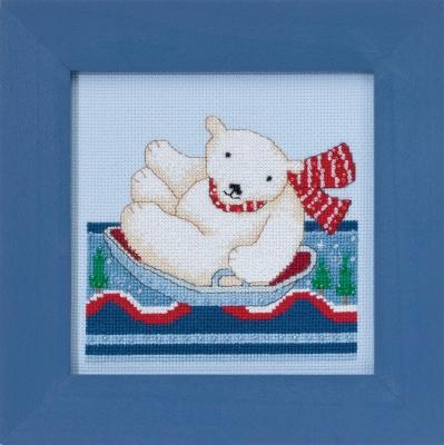 "Набор для вышивания ""Polar Slide • Полярное катание"" Mill Hill DM301713"