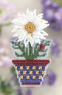 """Набор для вышивания """"White Daisy • Белая ромашка"""" Mill Hill MH181105"""