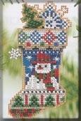 "Набор для вышивания ""Mr. Snowflake Stocking • Чулок"" Mill Hill MHCS45"