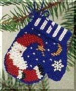 """Набор для вышивания """"Sleepy Time Santa • Перчатка"""" Mill Hill MHCM11"""