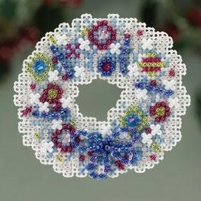 """Набор для вышивания """"Crystal Wreath • Хрустальный венок"""" Mill Hill MH183301"""