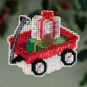 """Набор для вышивания """"Red Wagon • Красная каталка"""" Mill Hill MH183306"""