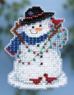 """Набор для вышивания """"Snow Fun • Снежное веселье"""" Mill Hill MH184301"""