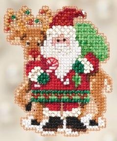 """Набор для вышивания """"Santa and Rudolph • Санта и Рудольф"""" Mill Hill MH182305"""