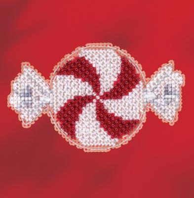 """Набор для вышивания """"Peppermint Candy • Мятная конфетка"""" Mill Hill MH181732"""