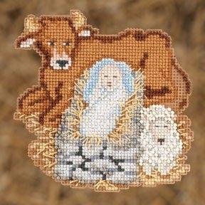 """Набор для вышивания """"Baby Jesus • Младенец Иисус"""" Mill Hill MH192301"""