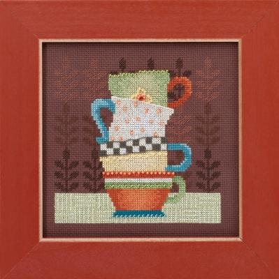 """Набор для вышивания """"Coffee Cups • Кофейные чашки"""" Mill Hill DM301615"""
