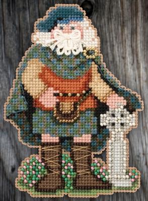 "Набор для вышивания ""Scotland Santa • Шотландский Санта"" Mill Hill MH205301"