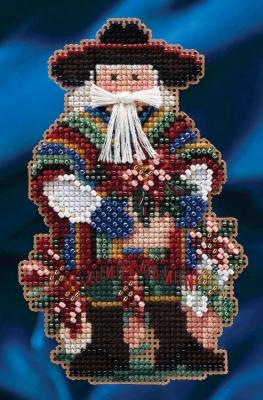 """Набор для вышивания """"Feliz Navidad Santa • С Рождеством Христовым Санта"""" Mill Hill MH204303"""