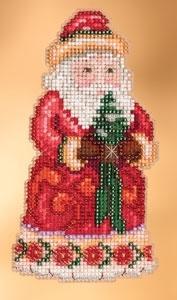 """Набор для вышивания """"Cheer Christmas Santa • Веселый Рождественский Санта"""" Mill Hill JS203102"""