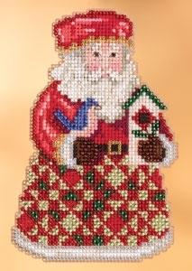 """Набор для вышивания """"Cozy Christmas Santa • Уютный Рождественский Санта"""" Mill Hill JS203104"""