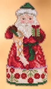 """Набор для вышивания """"Christmas Spirit Santa  • Рождественский Дух Санта"""" Mill Hill JS203105"""
