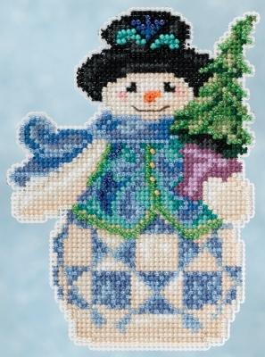 """Набор для вышивания """"Evergreen Snowman • Вечнозеленый снеговик"""" Mill Hill JS205101"""