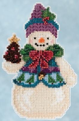 """Набор для вышивания """"Pinecone Snowman • Снеговик сосновая шишка"""" Mill Hill JS205102"""