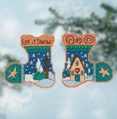 """Набор для вышивания """"Let it Snow • Пусть снежит"""" Mill Hill ST141615"""