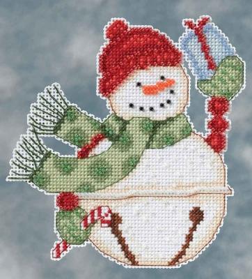 "Набор для вышивания ""Freezy Snowbell • Снеговик"" Mill Hill DM204103"