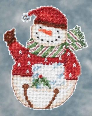 "Набор для вышивания ""Flurry Snowbell • Снеговик"" Mill Hill DM204104"