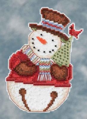 "Набор для вышивания ""Frank Snowbell • Снеговик"" Mill Hill DM204105"