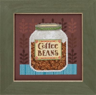 """Набор для вышивания """"Coffee Server • Кофейные зерна"""" Mill Hill DM301616"""
