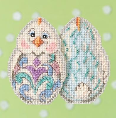 "Набор для вышивания ""White Chick • Белый цыпленок"" Mill Hill JS181713"