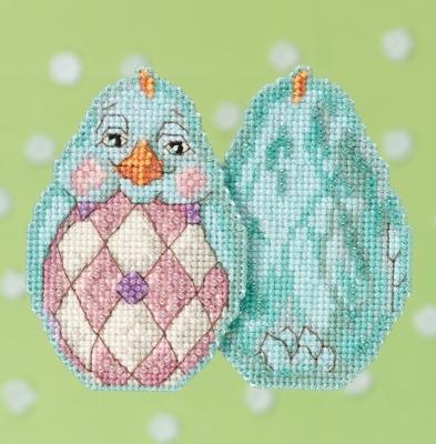 """Набор для вышивания """"Aqua Chick • Светло-голубой цыпленок"""" Mill Hill JS181714"""