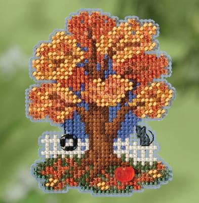 """Набор для вышивания """"Fall Tree • Осеннее дерево"""" Mill Hill MH181824"""