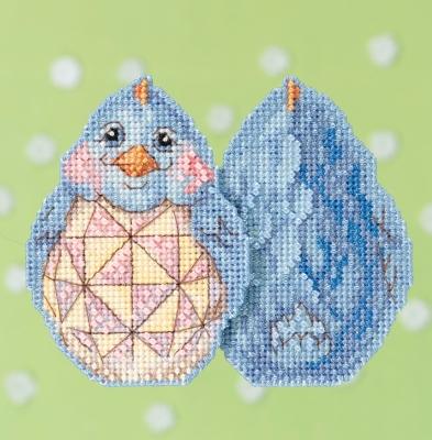 """Набор для вышивания """"Blue Chick • Голубой цыпленок"""" Mill Hill JS181711"""
