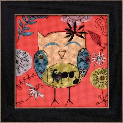 """Набор для вышивания """"Be Happy • Будь счастлив"""" Mill Hill AW304101"""