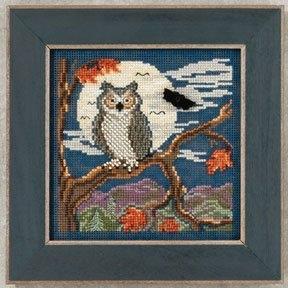 """Набор для вышивания """"Night Owl • Ночная сова"""" Mill Hill MH142203"""