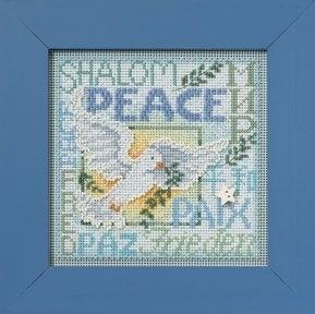 """Набор для вышивания """"World Peace • Мир во всем Мире"""" Mill Hill MH142304"""