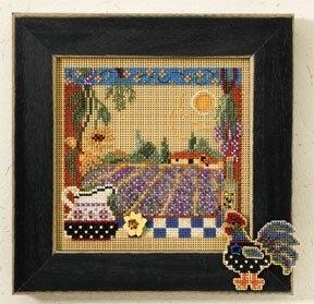 """Набор для вышивания """"Lavender Fields • Лавандовые поля"""" Mill Hill MH147203"""