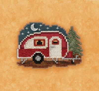 """Набор для вышивания """"Happy Camper • Счастливый кампер"""" Mill Hill MH181721"""