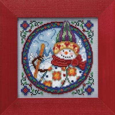 """Набор для вышивания """"Northern Snowman • Северный снеговик"""" Mill Hill JS149101"""