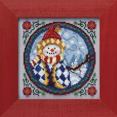 """Набор для вышивания """"Western Snowman • Западный снеговик"""" Mill Hill JS149104"""