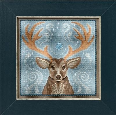 """Набор для вышивания """"Winter Stag • Зимний олень"""" Mill Hill MH141636"""
