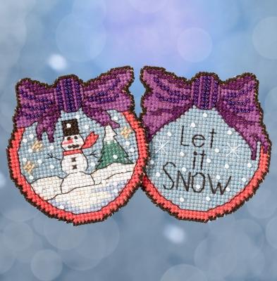 """Набор для вышивания """"Let it Snow • Пусть снежит"""" Mill Hill ST181715"""