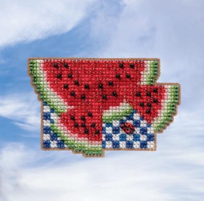 "Набор для вышивания ""Watermelon • Арбуз"" Mill Hill MH181914"