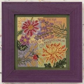 """Набор для вышивания """"Fall Blooms • Осенние цветы"""" Mill Hill MH140203"""