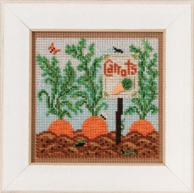 """Набор для вышивания """"Carrot Garden • Морковный сад"""" Mill Hill MH141711"""
