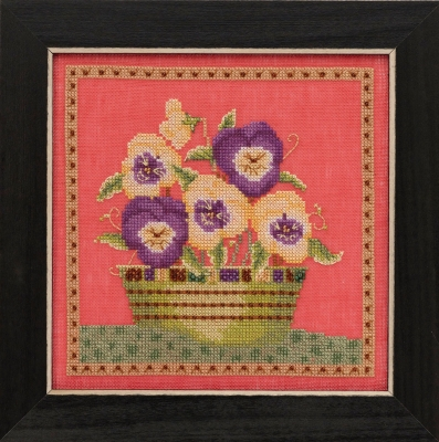 "Набор для вышивания ""Pansies • Анютины глазки"" Mill Hill DM301911"