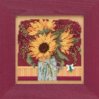 "Набор для вышивания ""Sunflower Bouquet • Букет подсолнухов"" Mill Hill MH141924"