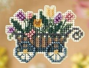 "Набор для вышивания ""Garden Cart • Садовая тележка"" Mill Hill MH188106"
