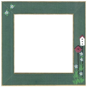 Оригинальная рамка Matte Green w/birdhouses для наборов Mill Hill