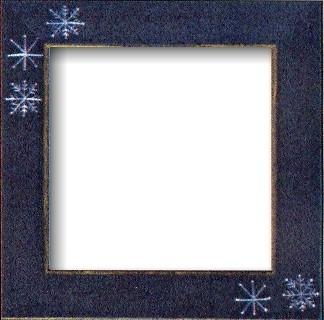 Оригинальная рамка Matte Blue w/Snowflakes для наборов Mill Hill