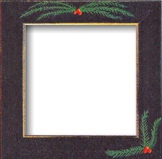 Оригинальная рамка Matte Black w/Pine Boughs для наборов Mill Hill