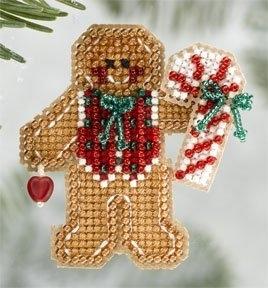 """Набор для вышивания """"Gingerbread Boy • Пряничный мальчик"""" Mill Hill"""