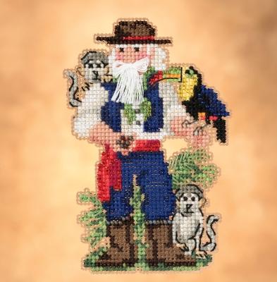 "Набор для вышивания ""Amazon Santa • Санта Амазонки"" Mill Hill"