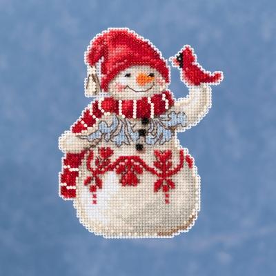 """Набор для вышивания """"Snowman • Снеговик"""" Mill Hill"""