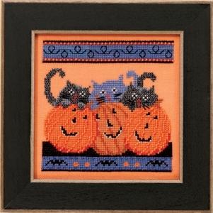 """Набор для вышивания """"Jacks and Cats • Тыквы и кошки"""" Mill Hill"""